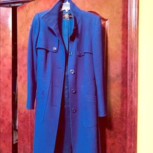 3/4 length Dark Purple Antonio Melani Wool Coat
